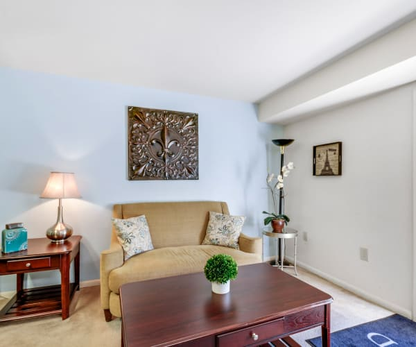 Open living room at Wedgewood Apartments in Annandale