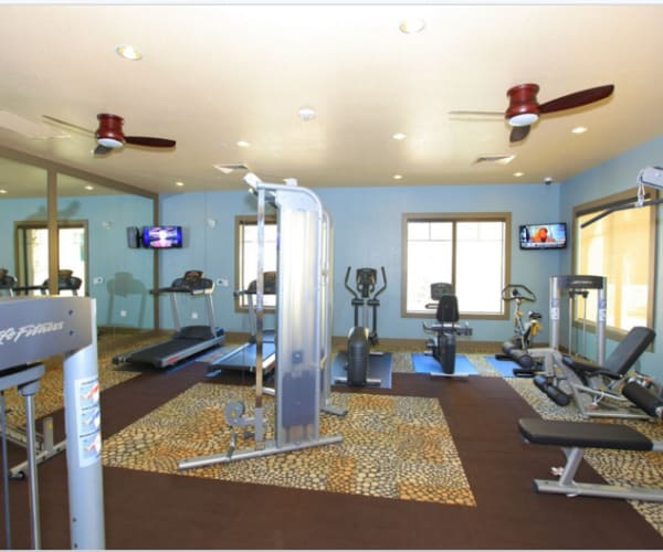 Fitness center at Elevation Apartments