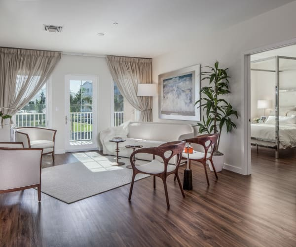 Gorgeous, open living room at All Seasons Naples in Naples, Florida