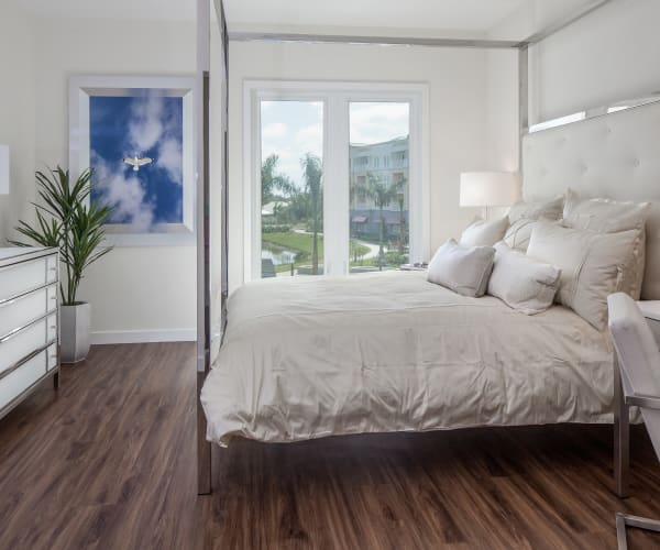 Comfortable bedroom at All Seasons Naples in Naples, Florida