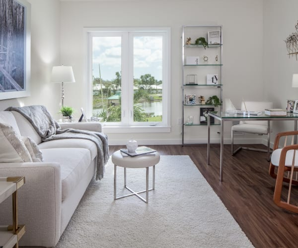 Cozy living room at All Seasons Naples in Naples, Florida