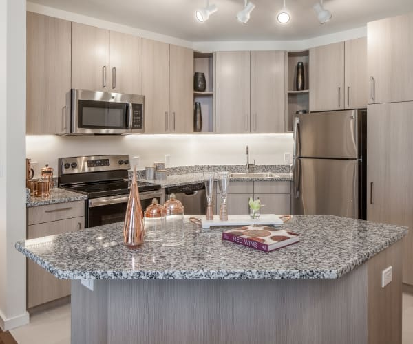 Fully equipped kitchen at All Seasons Naples in Naples, Florida