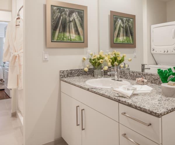 Bright, beautiful bathroom at All Seasons Naples in Naples, Florida