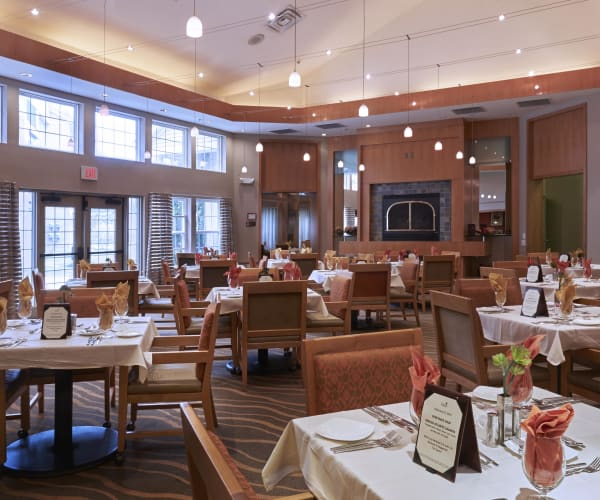 Main dining hall at All Seasons of Rochester Hills in Rochester Hills, Michigan