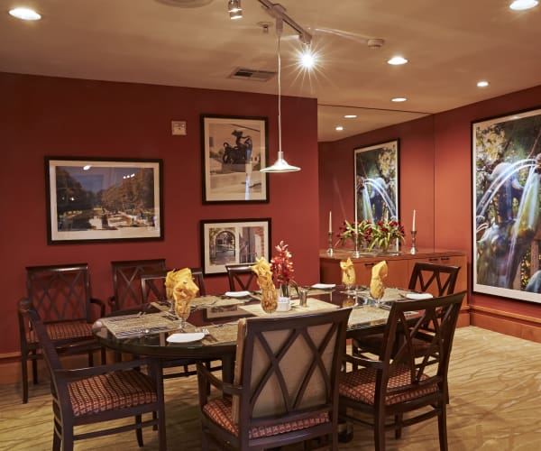 Cozy dining area at All Seasons of Rochester Hills in Rochester Hills, Michigan