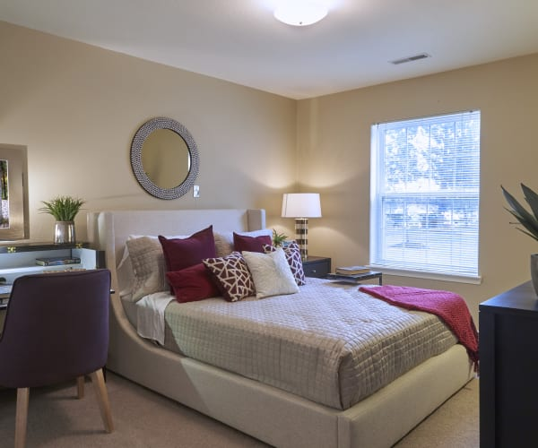 Spacious bedroom at All Seasons of Rochester Hills in Rochester Hills, Michigan