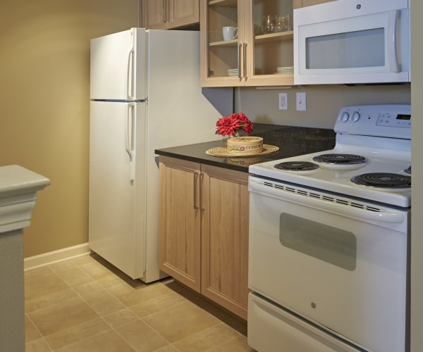 Fully equipped kitchen at All Seasons of Rochester Hills in Rochester Hills, Michigan