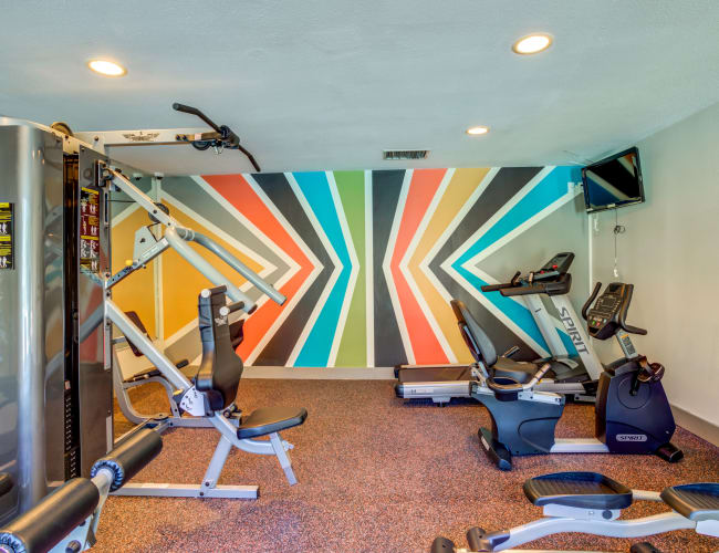 Fitness Center at The Reserve at City Center North in Houston, Texas