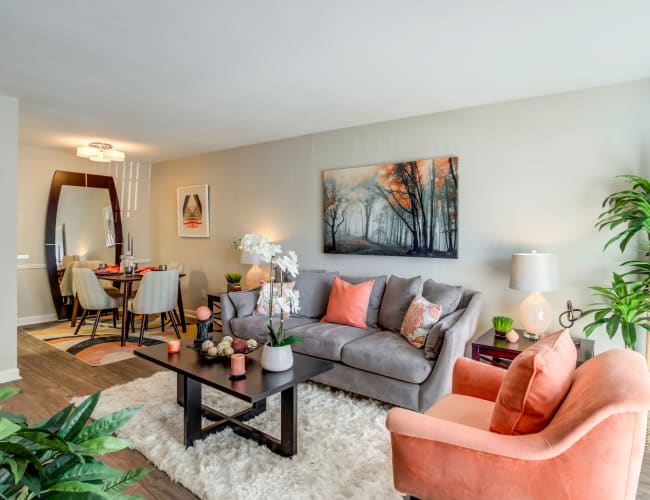 The Reserve at City Center North offers a Living Room in Houston, Texas