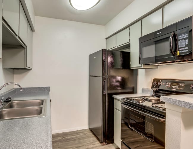 Our Apartments in Houston, Texas offer a Kitchen