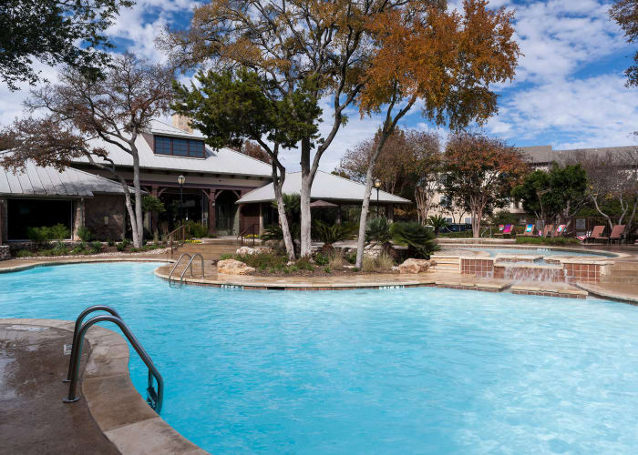 Resort style pool at Tintara at Canyon Creek in Austin