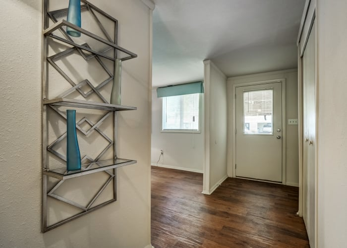 Interior entryway of resident townhome at Avalon Townhomes in Hampton, VA