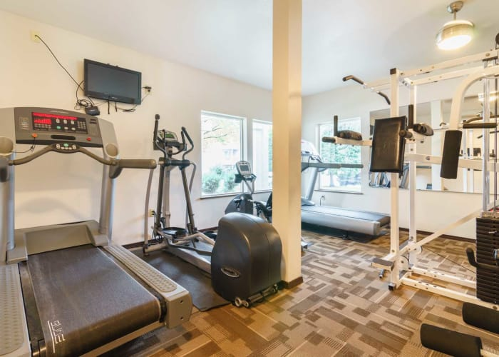 Fitness center at Arbor Crossing Apartments in Boise, ID