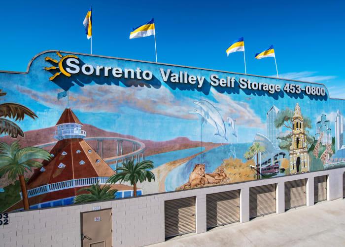 The exterior of Sorrento Valley Self Storage in San Diego, California