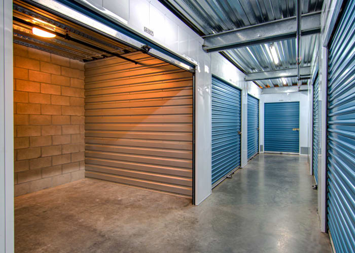 Climate-controlled storage units at Smart Self Storage of Solana Beach in Solana Beach, California