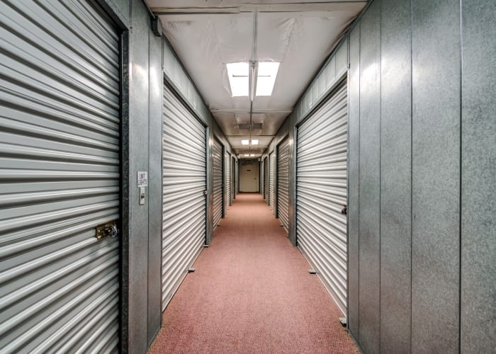 Climate-controlled storage units at North County Self Storage in Escondido, California