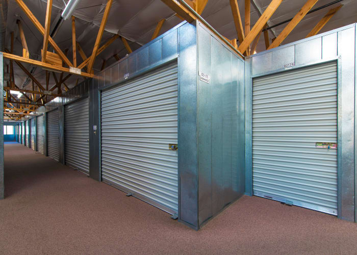 Climate-controlled storage units at Poway Road Mini Storage in Poway, California