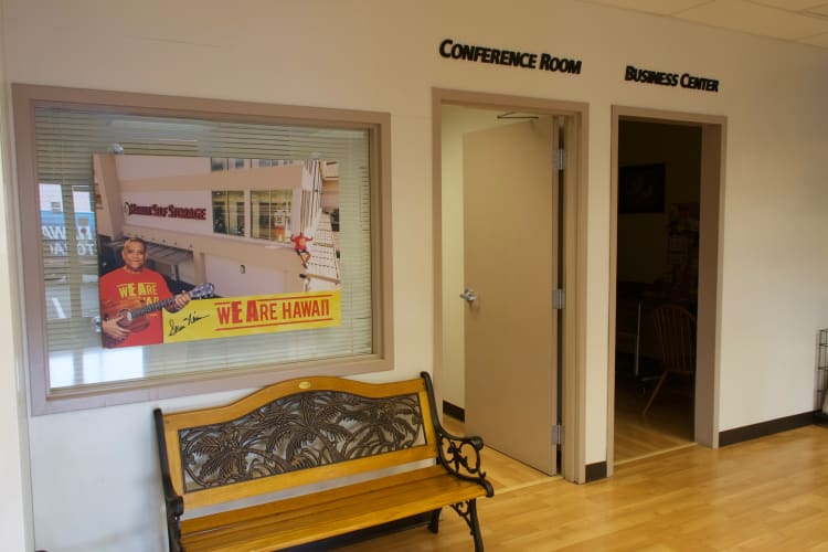 Conference rooms available for customer use at Hawai'i Self Storage in Pearl City