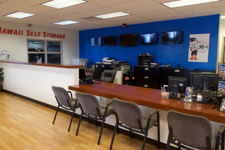 The office at Hawai'i Self Storage in Pearl City