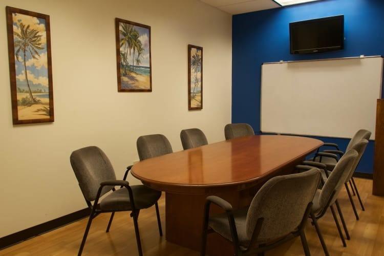 Conference room at Hawai'i Self Storage in Pearl City