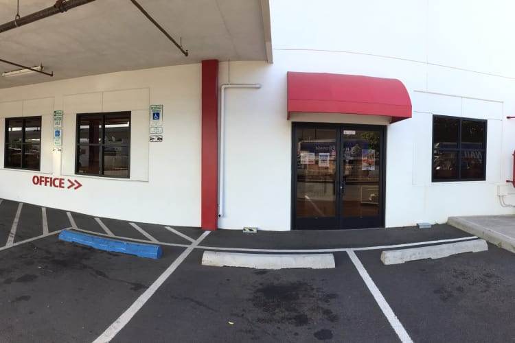 Exterior view of our office here at Hawai'i Self Storage in Pearl City