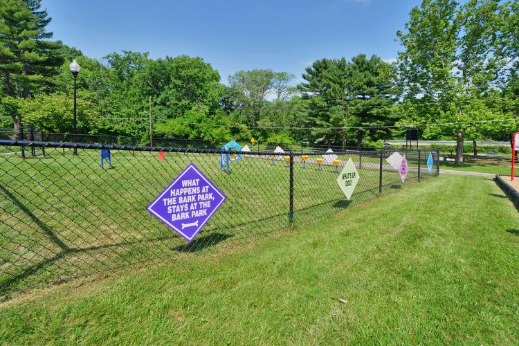 On-site dog park at Arbors at Edenbridge Apartments & Townhomes in Parkville, MD