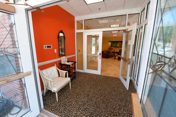 Front entrance at Residence 600 in Salina, KS