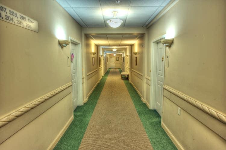 Hallway at Residence 600 in Salina, KS