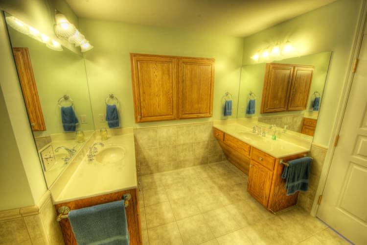 Bathroom sink at Residence 600 senior apartments