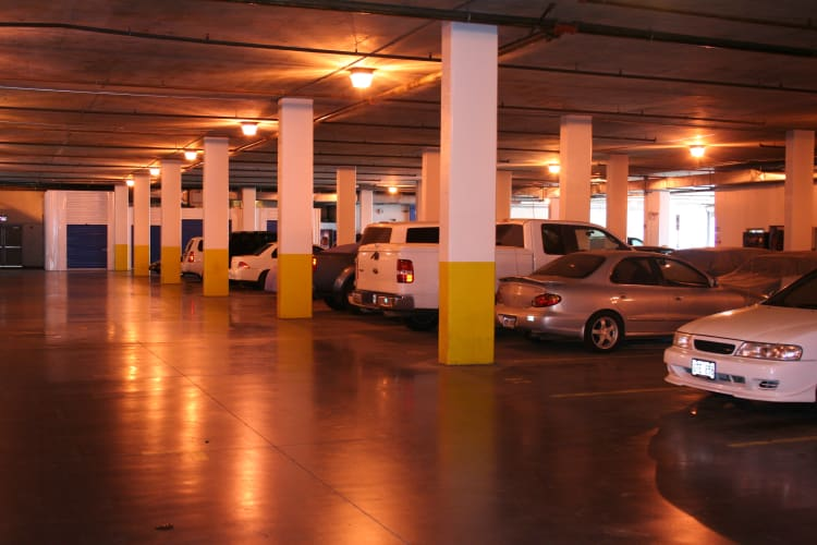 Plenty of secured underground parking at Hawai'i Self Storage in Honolulu