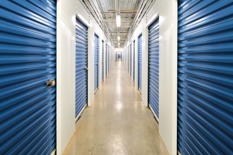 Our interior storage unit hallways are always clean and well-lit at Hawai'i Self Storage in Mililani