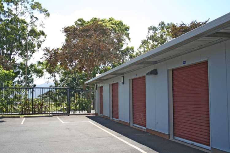 Exterior of our outdoor drive-up units at Hawai'i Self Storage in Mililani