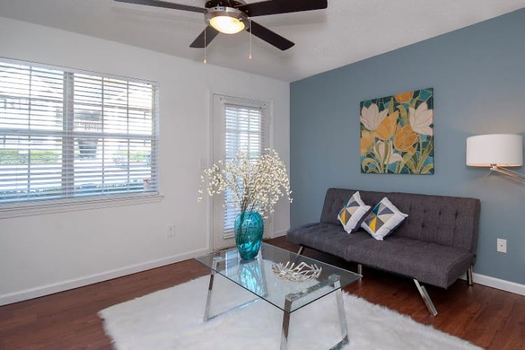 Our apartments in Central, SC showcase a modern living room