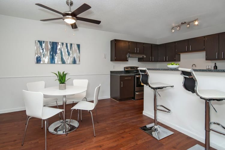 Spacious dining room at The Gallery apartments