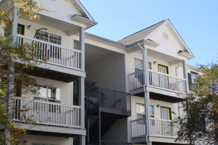 Apartments with balconies at The Gallery in Clemson, SC