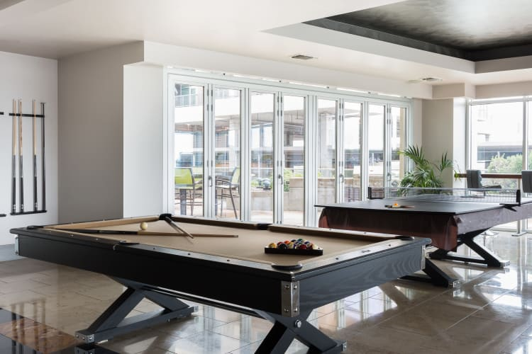 Billiard tables at The Heights at Park Lane
