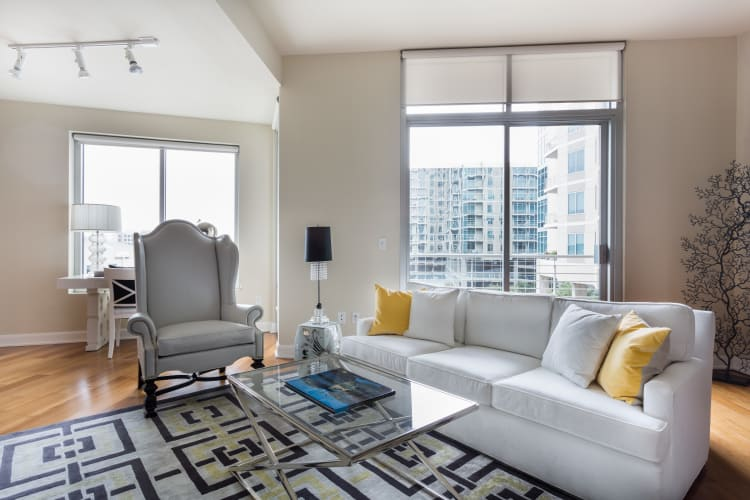 Our apartments in Dallas, TX have a state-of-the-art living room