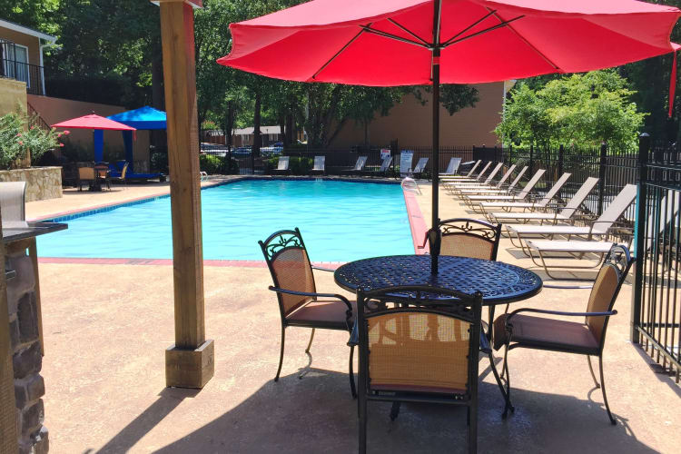 The sparkling swimming pool is a terrific place to relax and meet new friends and neighbors at Abbots Glen