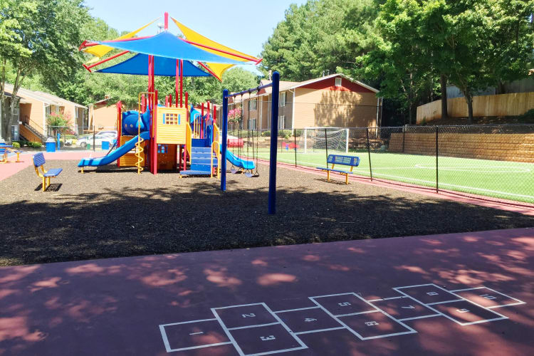 Your kids will love our on-site playground and more at Abbots Glen