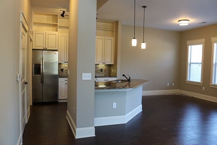 Kitchen view at Bradford Luxury Apartments & Townhomes apartments in Cary, NC