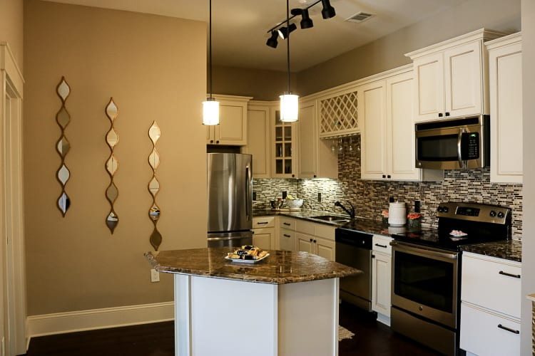 Enjoy a modern kitchen in our apartments in Cary