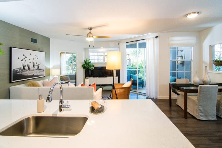Spacious, open floor plan at The Sophia at Abacoa in Jupiter, Florida