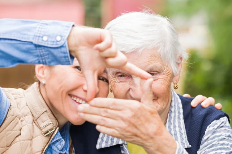 Happy residents at BPM Senior Living