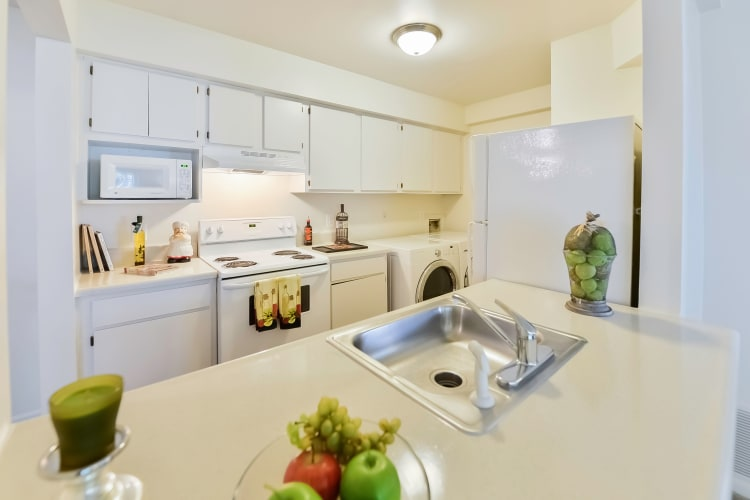 Modern kitchen at apartments in Absecon, New Jersey