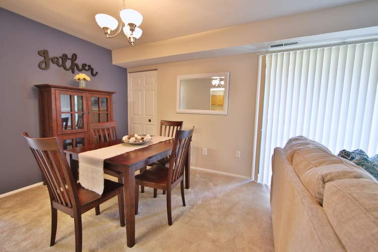 Our apartments in Reisterstown, Maryland showcase a beautiful living room