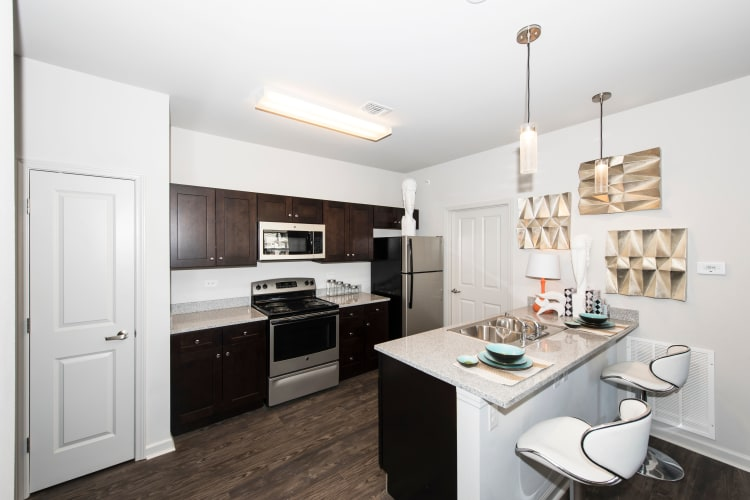 Landmark Apartments showcases a beautiful kitchen in Little Rock, Arkansas