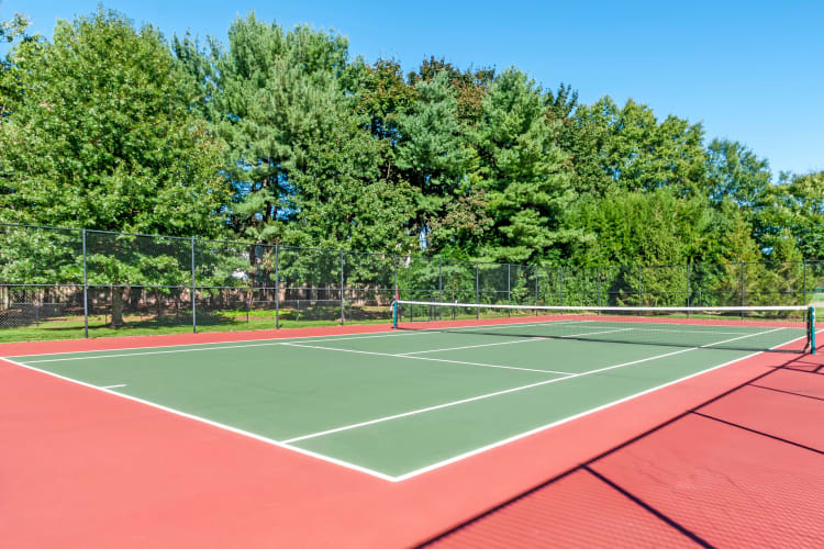 Tennis courts at The Lena Luxury Residences in Raritan, New Jersey