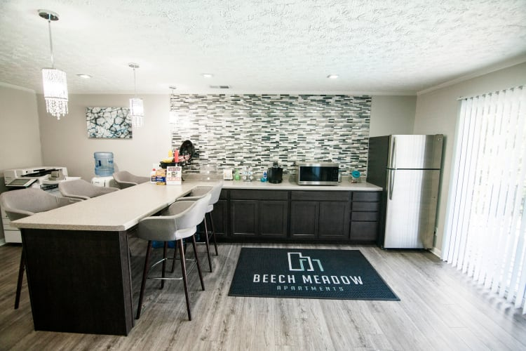 Spacious dining area at Beech Meadow in Beech Grove, Indiana