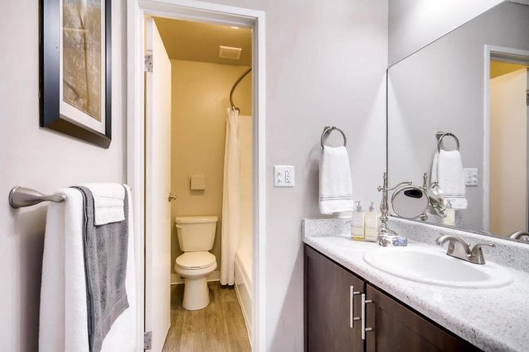 Master bathroom at Mountain Vista in Lakewood, Colorado