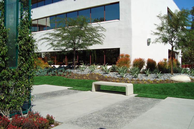 Courtyard benches at Calabasas Square in Calabasas, California